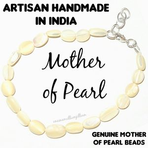 Natural Mother of Pearl Beaded Bracelet